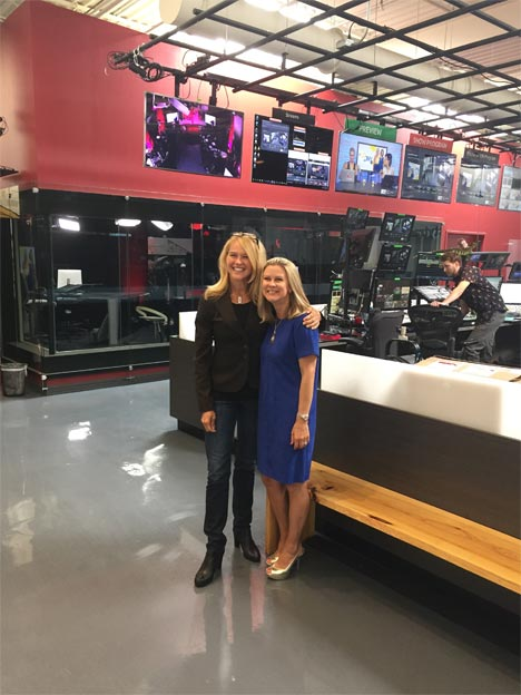 Sandy Marsico with Kristi Ross, CEO of Tastytrade