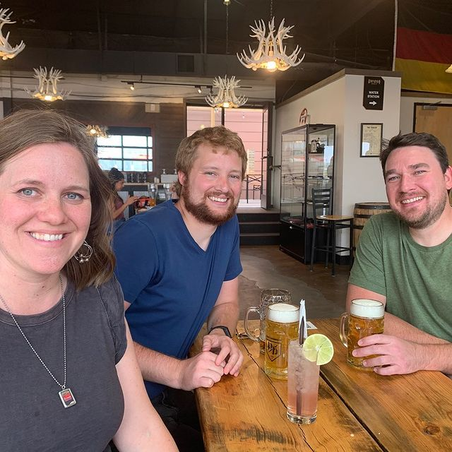 Emily, David, and Andy hanging out in Denver