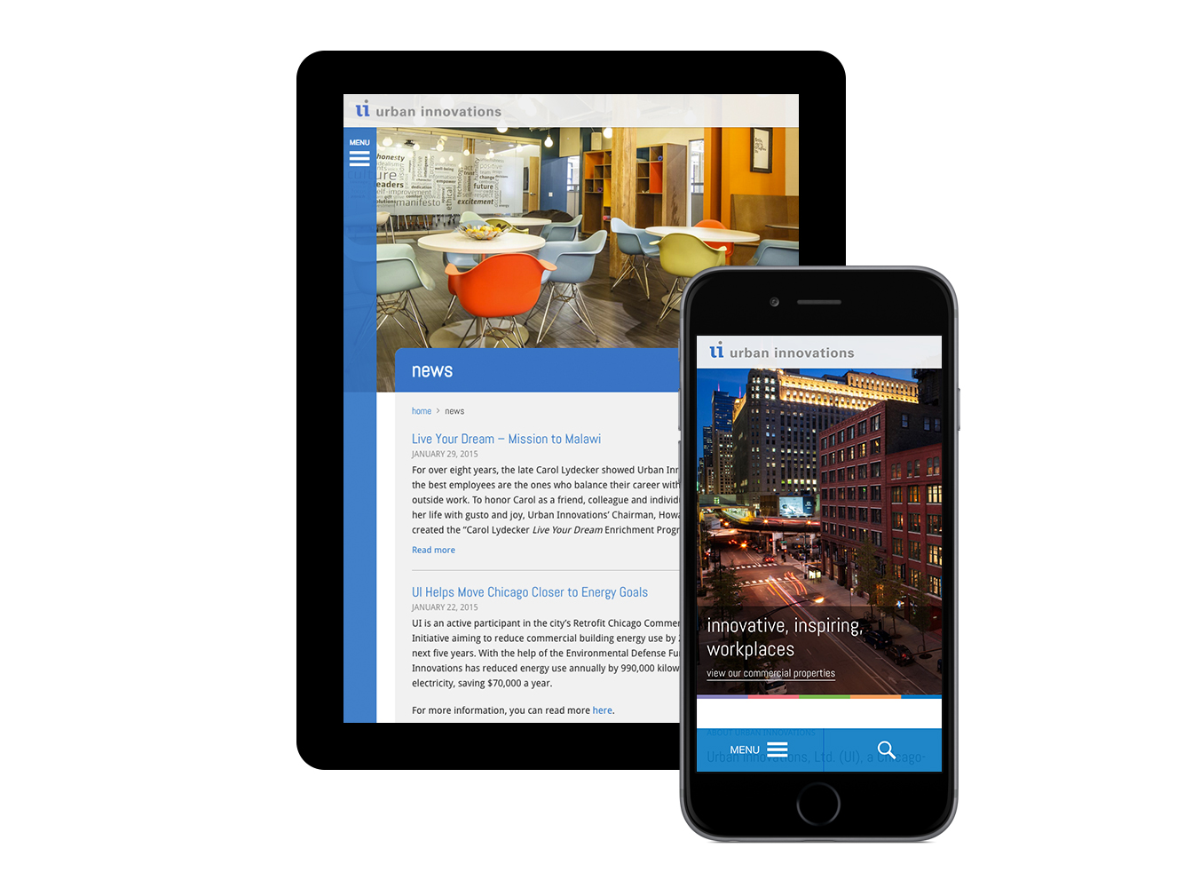 Responsive Drupal site for Urban Innovations